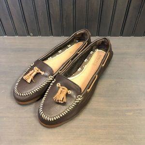 Sperry Sabrina Dark Brown Boat Shoes
